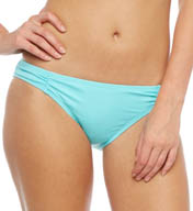 Coco Rave Solid Shirred Side Swim Bottom R12299