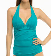 Coco Reef Solid Shirred Tankini Swim Top U56657