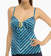 Coco Reef Wonderland Geo Signature Twist Tankini Swim Top U59697