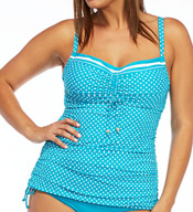 Coco Reef Valley Dot Smooth Curves Tankini Plus Swim Top UX5231