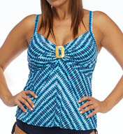 Coco Reef Wonderland Geo Twist Plus Size Tankini Swim Top UX5933