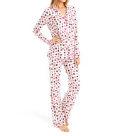 Cosabella Bella Printed Long Sleeve Top and Pant PJ Set AP9641