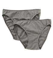 Cottonique Organic Cotton Low Rise Bikini Panty - 2 Pack W22205