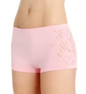 Crystal Hefner Loungewear Seamless Peek-a-Boo Boyshort Panty 7023