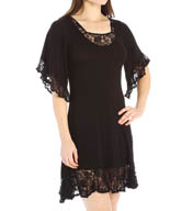 Crystal Hefner Loungewear Lace Luxury Sleep Gown 7025