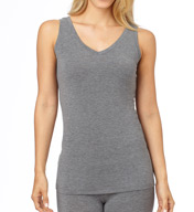 Cuddl Duds Softwear with Stretch Reversible Scoop/V Neck Tank 8012416