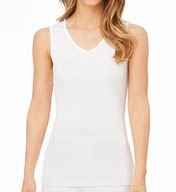 Cuddl Duds Softwear Lace Edge V-Neck Tank 8212435