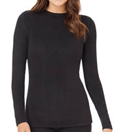 Cuddl Duds Fleecewear with Stretch Long Sleeve Crew 8412365