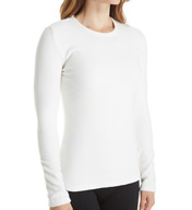 Cuddl Duds Fleecewear with Stretch Long Sleeve Crewneck Shirt 8417565