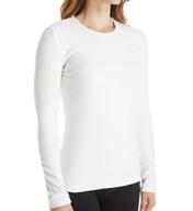 Cuddl Duds Fleecewear with Stretch Long Sleeve Crewneck Shirt 8417565
