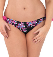 Curvy Kate Moonflower Ruffle Back Tie Side Swim Bottom CS2515