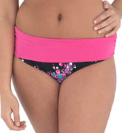 Curvy Kate Moonflower Mini Fold Over Brief Swim Bottom CS2525