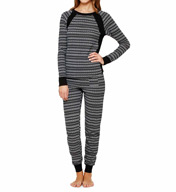 DKNY Between The Lines Long Sleeve Top & Pant 2113378