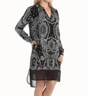 DKNY Paisley Long Sleeve Sleepshirt 2313334