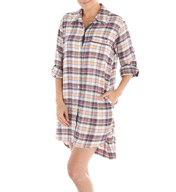 DKNY Plaid Favorites Longsleeve Boyfriend Sleepshirt 2313360