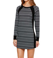 DKNY Between The Lines Long Sleeve Sleepshirt 2313378