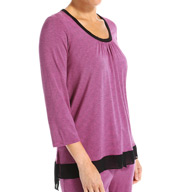 DKNY Beautiful Night 3/4 Sleeve Top 2413356