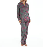 DKNY Spotted Long Sleeve Fleece PJ Set 2913272