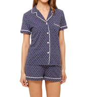 DKNY Playful Prints Short Sleeve Top & Boxer PJ Set 2913304