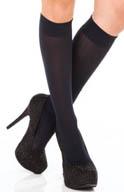DKNY Hosiery Knee Socks Rib Texture 0B735