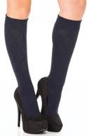 DKNY Hosiery Knee Socks Diamond Texture 0B736