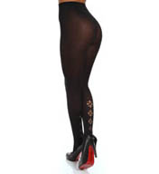 DKNY Hosiery Modern Graphic Laser Cut Out Tight 0B783
