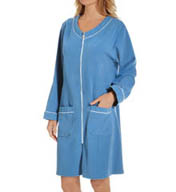Eileen West Blueberry Short Velour Terry Zip Robe 5115845