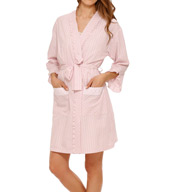 Eileen West Seersucker Short Wrap Robe 5115907