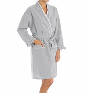 Eileen West Vibrant Spirit Seersucker Short Wrap Robe 5115935