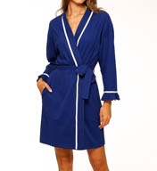 Eileen West Enchanting Waves Short Wrap Robe 5115940