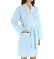 Eileen West Seersucker Short Wrap Robe 5155915