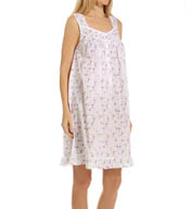 Eileen West Sleeveless Short Lawn Nightgown 5315911
