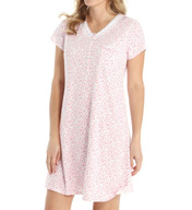Eileen West Floral Coast Short Nightgown 5315934