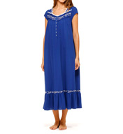 Eileen West Ocean Spring Cap Sleeve Jersey Ballet Nightgown 5415947
