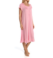 Eileen West Dotted Bloom Cap Sleeve Waltz Nightgown 5515933