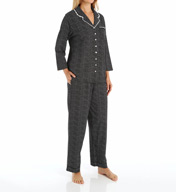 Eileen West Dandelion Notch Collar Jersey PJ Set 5715836