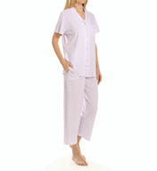 Eileen West Jersey Notch Capri Pajama Set 5715902