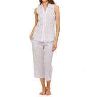 Eileen West Seersucker Notch Pajama Set 5715915