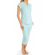 Eileen West Peached Jersey Notch Pajama Set 5715919