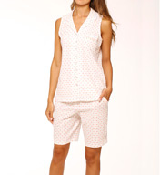 Eileen West Sunsets Notch Clamdigger Pajama Set 5715939
