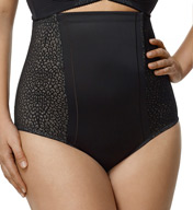 Elila Leopard Lace & Microfiber Control Shaper Panty 8203