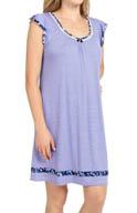 Ellen Tracy Blue and Me Forever Short Sleeve Flutter Chemise 8015301