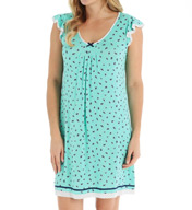 Ellen Tracy Short Sleeve Chemise 8015380