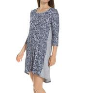 Ellen Tracy Mod 3/4 Sleeve Sleepshirt 8215327