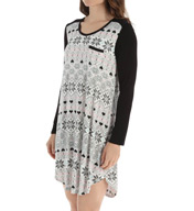 Ellen Tracy Fairisle Short Sleep Tee 8215358