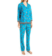 Ellen Tracy Winter Jewels Long Pajama Set 8315449
