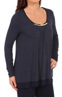 Ellen Tracy Pretty in Preppy L/S Scoop Top 8415306
