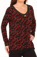 Ellen Tracy Hello to Holiday Charm Long Sleeve Scoop Top 8415308