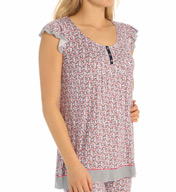 Ellen Tracy Summer Soiree Short Sleeve Top 8415395