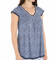 Ellen Tracy A Sea of Dreams Short Sleeve Top 8415396